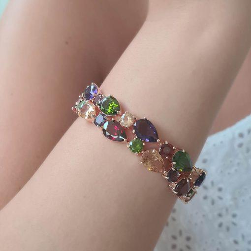 Rosé Statement Armband Multicolor