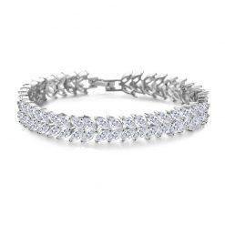 Swarovski-Armband-Zilverkleurig