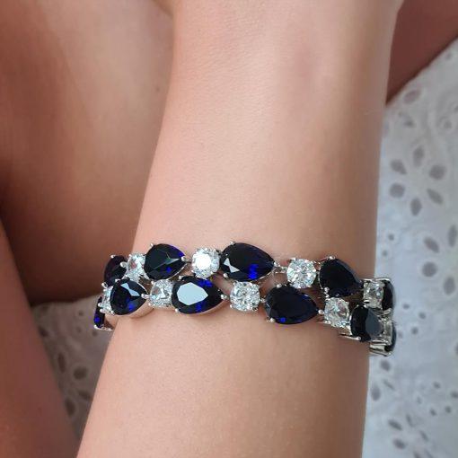 Blauwe Statement Armband