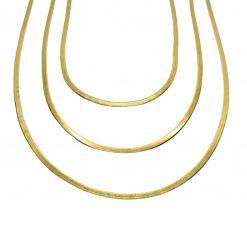 Goldplated Slangenketting set